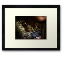 Pearls & Lace Framed Print