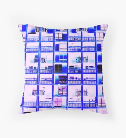 Neon city Throw Pillow