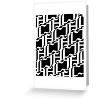 White Patterns Greeting Card