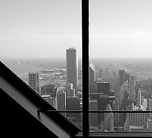 View over Chicago and Lake Michigan. by Littlest