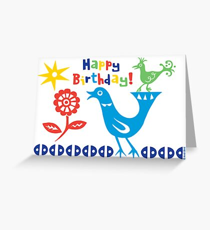 Bird buddies Birthday - card Greeting Card