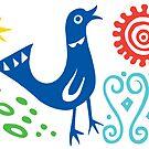 Bird Delight Card - primary by Andi Bird