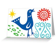 Bird Delight Card - primary Greeting Card