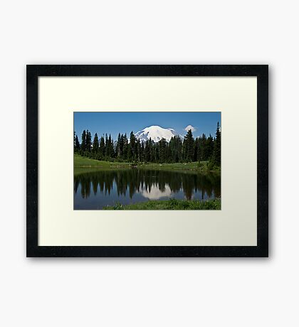 Tipsoo Lake, Mt. Rainier National Park Framed Print