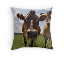 """Hmm.. You don't look like Cow.. Who are you then?"" Throw Pillow"