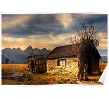 Mormon Row, Tetons National Park, Jackson,  Wyoming, USA. Poster