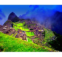 Machu Pichu, The remains of the Inca Civilization Photographic Print