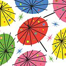 Parasols - card by Andi Bird