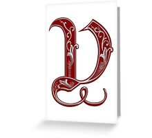Letter V Greeting Card