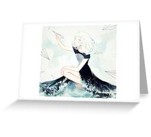 messages across the sea Greeting Card