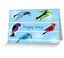 Five Royal Birds - Card Greeting Card