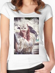 .. Women's Fitted Scoop T-Shirt