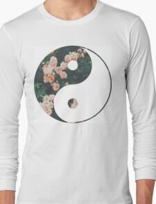 Pink Flower Zen Long Sleeve T-Shirt