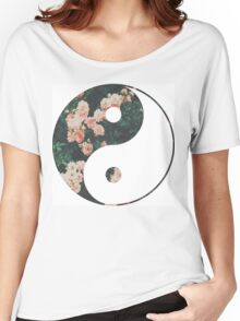 Pink Flower Zen Women's Relaxed Fit T-Shirt