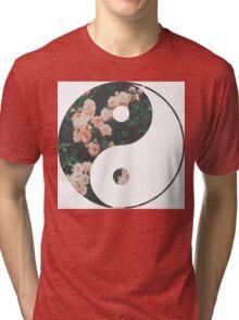 Pink Flower Zen Tri-blend T-Shirt