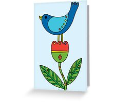 Birdy - card Greeting Card