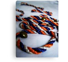 Coloured Rope & Golden Buttons Canvas Print