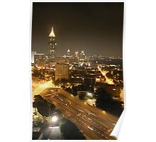 Downtown Atlanta By Night Poster