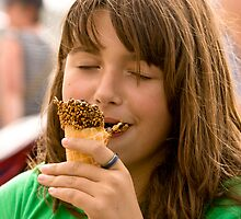 And a Waffle Ice Cream Cone in the Summer...Priceless!!! by Buckwhite