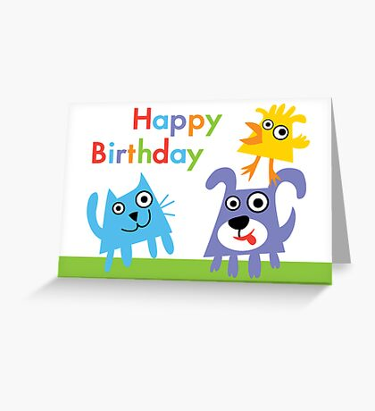 Critter Love Birthday - card Greeting Card