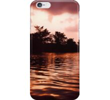 Copper Sunset on a Lake iPhone Case/Skin