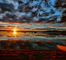 Sunset over warners bay by RedMonkey Photography