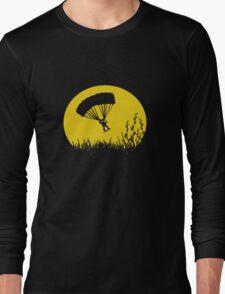 Parachuting down to earth.. Long Sleeve T-Shirt