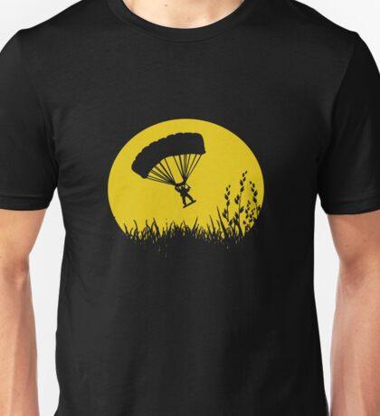 Parachuting down to earth.. Unisex T-Shirt