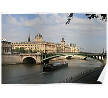 Barge in Paris Poster