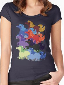 My Little Primal Ponies Women's Fitted Scoop T-Shirt