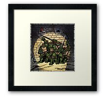 Ninja Turtles Classic Defence Stand Framed Print