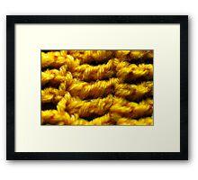Crochet Framed Print