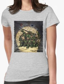 Ninja Turtles Classic Defence Stand Womens Fitted T-Shirt