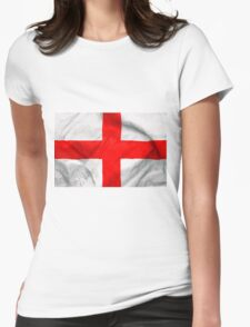 England Flag Womens Fitted T-Shirt