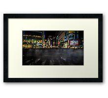 Tokyo Ghosts - Shibuya Crossing Long Exposure Framed Print
