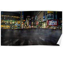 Tokyo Ghosts - Shibuya Crossing Long Exposure Poster