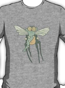 Illustration monster fly with long legs, wings and proboscis T-Shirt