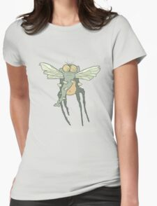 Illustration monster fly with long legs, wings and proboscis Womens Fitted T-Shirt