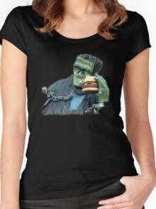 Buger Monster Women's Fitted Scoop T-Shirt