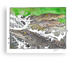 Saltwater crocs Canvas Print