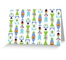 Retro Shape - Card Greeting Card