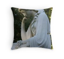 Amy in Thought Throw Pillow