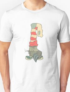 Vector illustration monster with a sock or stocking on his head Unisex T-Shirt