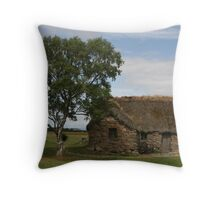 Leanach Cottage Throw Pillow