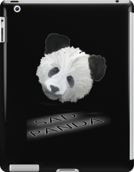 Sad Panda Tee, Sticker, Iphone Case by Corri Gryting Gutzman