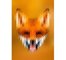 Pixelated Fox Photographic Print