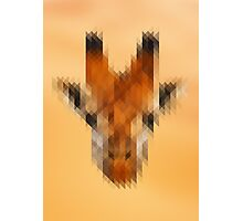 Pixelated Giraffe Photographic Print