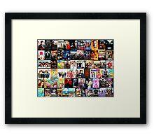 TV SHOWS COLLAGE Framed Print