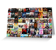 TV SHOWS COLLAGE Greeting Card