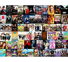 TV SHOWS COLLAGE Photographic Print